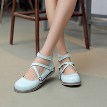 Load image into Gallery viewer, Round Toe Cross Straps Women Flats Shoes 2527