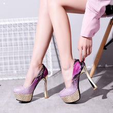 Load image into Gallery viewer, Patent Leather Pumps High Heels Fashion Women Shoes 9349