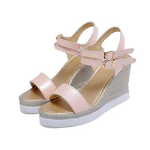 Load image into Gallery viewer, Women's Buckle Wedge Sandals