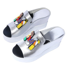 Load image into Gallery viewer, Women's Real Leather Platform Wedge Sandals