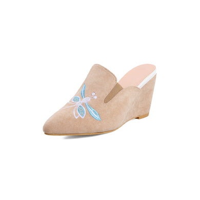Women's Embroidered Wedge Sandals