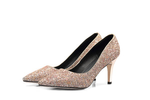 Pointed Toe Stiletto Heels Sequin High Heels Women Pumps