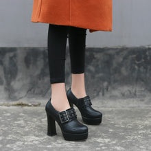 Load image into Gallery viewer, Buckle Chunky Platform High Heels