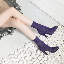 Load image into Gallery viewer, Mid Calf Boots High Heel Winter Shoes for Woman 4863