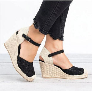 Lace Wedges Sandals Women Platform Shoes Woman