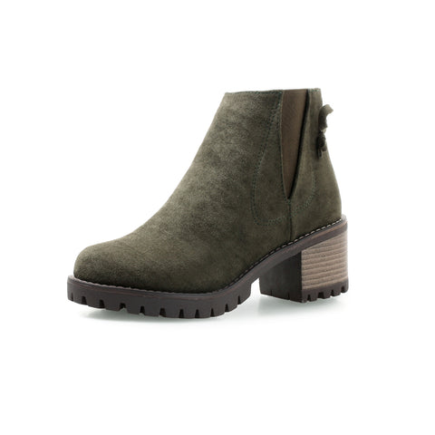 Mid-Heel Short Chelsea Boots Women Shoes for Winter 4614