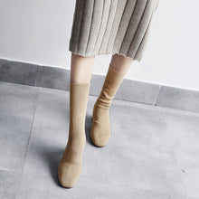 Load image into Gallery viewer, Mid Calf Boots Square Hee Winter Shoes for Woman 4074