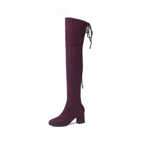 Cross Straps Over the Knee Boots Winter Shoes for Woman 2624