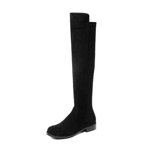 Faux Suede Tall Boots Winter Shoes for Woman 4095
