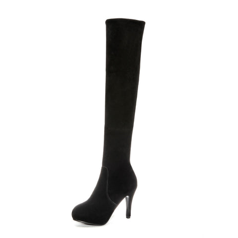 Tall Boots Thin Heel Winter Shoes for Woman 5495