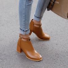 Load image into Gallery viewer, Buckle Mid-Heel Short Boots Women Shoes for Winter 4266