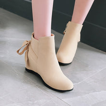 Load image into Gallery viewer, Wedge Mid-Heel Short Boots Women Shoes for Winter 3679