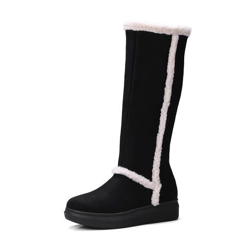 Tall Snow Boots Winter Shoes for Woman 4207