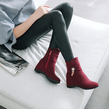 Load image into Gallery viewer, Rhinestone?Mid-Heel Short Boots Women Shoes for Winter 3907