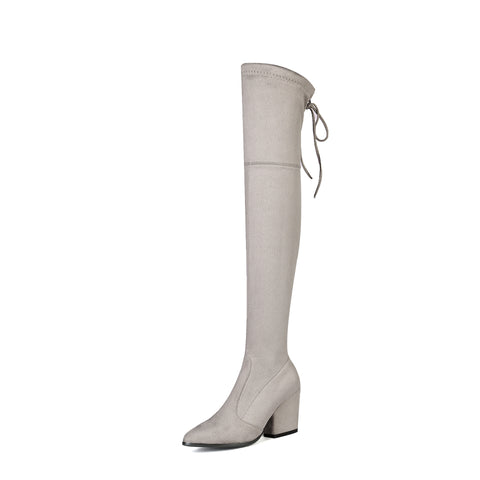 Pointed Toe Over the Knee Boots Winter Shoes for Woman 4315
