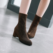 Load image into Gallery viewer, Sparkly Mid Calf Boots Winter Shoes for Woman 5532