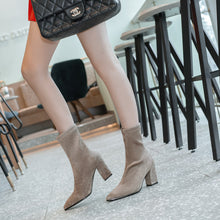 Load image into Gallery viewer, Pointed Toe Mid Calf Boots Winter Shoes for Woman 8781