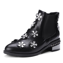 Load image into Gallery viewer, Rhinestone?Mid-Heel Short Boots Women Shoes for Winter 3546