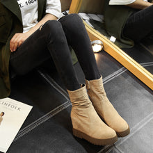 Load image into Gallery viewer, Mid Calf Boots Platform Wedges Winter Shoes for Woman 4919