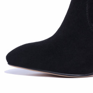 Pointed Toe Suede Over the Knee Boots Winter Shoes for Woman 3210