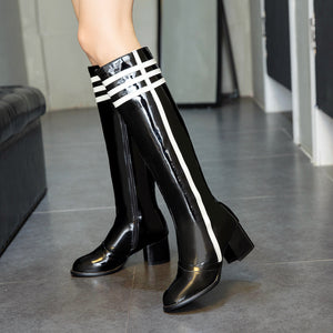 Chunky Heel Tall Boots Winter Shoes for Woman 1894