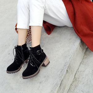 Fall Winter Lace Up Ankle Boots Women Shoes 3221