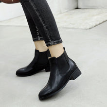 Load image into Gallery viewer, Ankle Chelsea Boots Square Low Heels Shoes 1010