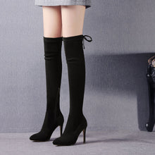 Load image into Gallery viewer, Pointed Toe Suede Over the Knee Boots Winter Shoes for Woman 3210