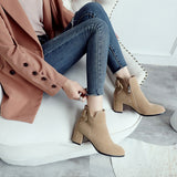 Back Bow High Heels Short Boots Winter Women Shoes 3666