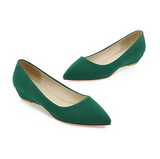 Pointed Toe Suede Women Flat Shoes