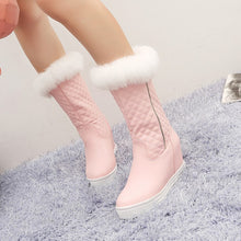 Load image into Gallery viewer, Fashion Women Ankle Boots for Autumn and Winter New Arrival Chunky Heel Pumps Fur 3873