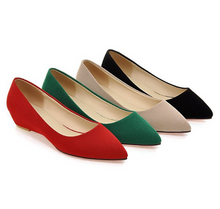 Load image into Gallery viewer, Pointed Toe Suede Women Flat Shoes