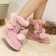 Load image into Gallery viewer, Ball Tassel Snow Boots Winter Fur Inside Shoes Woman