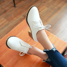 Load image into Gallery viewer, Women High Heels Shoes Lace Up Thick Heeled Platform Pumps 2442