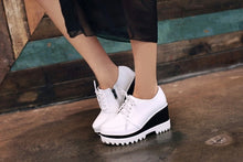 Load image into Gallery viewer, Women Wedges Summer Round Toe Loafers Platform Shoes