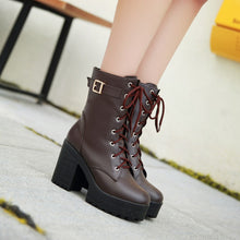 Load image into Gallery viewer, Lace Up Ankle Boots Women Shoes Fall|Winter 11191501