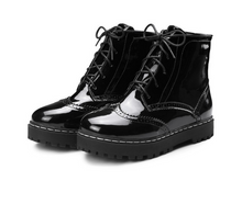 Load image into Gallery viewer, Patent Leather Women Flats Shoes Simple Boots Fall|Winter 5705