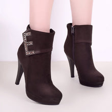 Load image into Gallery viewer, Rhinestone High Heels Platform Boots Shoes Woman