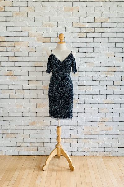 Short Pricilla Dress in Navy