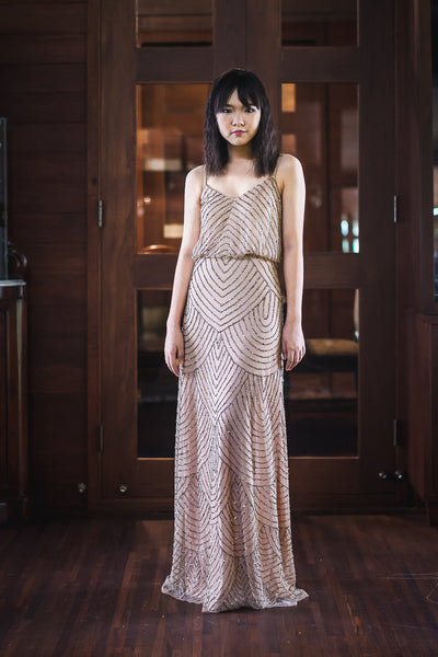 Gilly Dress in Beige - The Formal Affair