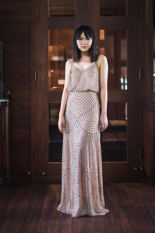 Gilly Dress in Beige