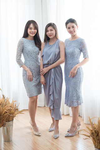 Short Chai Dress in Grey - The Formal Affair