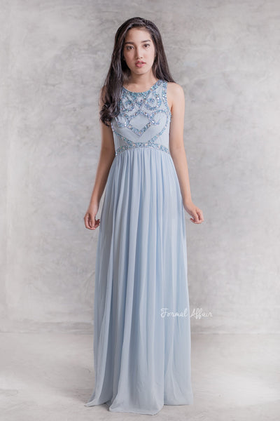 Delphina Pastel Blue Dress