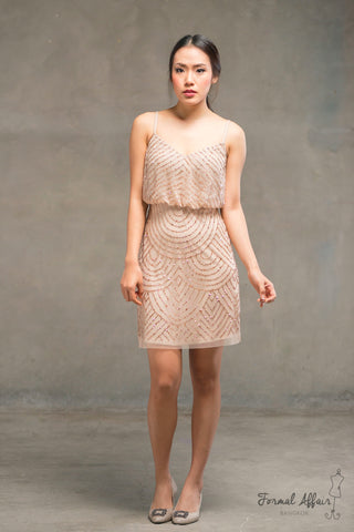 Short Gilly Dress in Gold