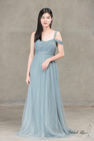Annabelle Dress in Ocean Grey