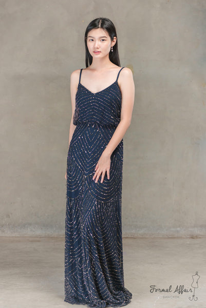 Gilly Dress in Navy