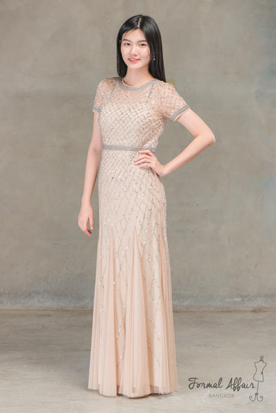 Sansa Dress in Gold - The Formal Affair