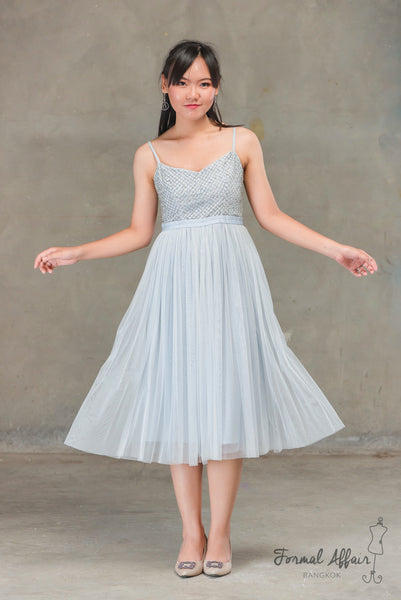 Short Maxi Ballet Dress in Blue