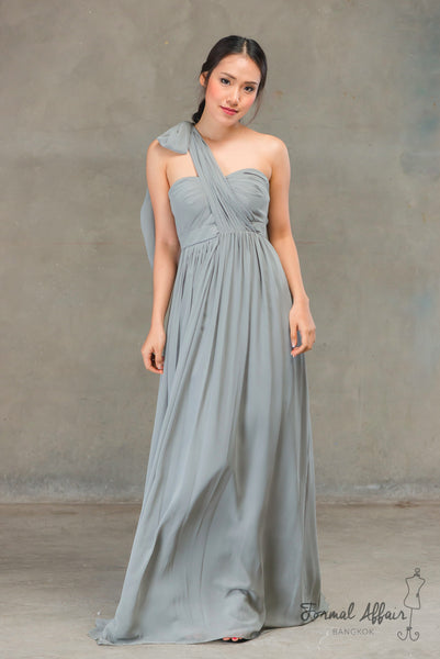 Aidan Dress in Ocean Grey