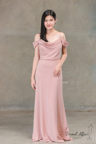Sabine Dress in Apricot - The Formal Affair